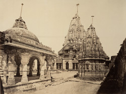 Chaumukh Temple from the West end of the Court [Satrunjaya]